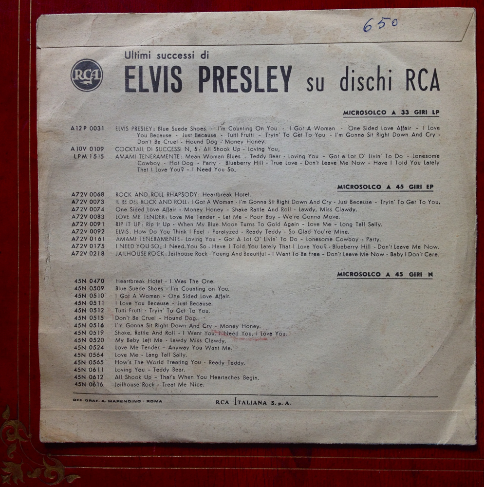 P R E S B Y T è R E P R O D U C T I O N Elvis Presley I